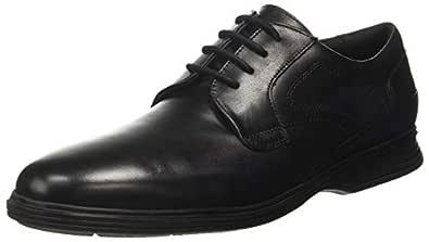 Ruosh Men's Black Leather Formal Shoes-7.5 UK/India (41 EU) (1121147510)