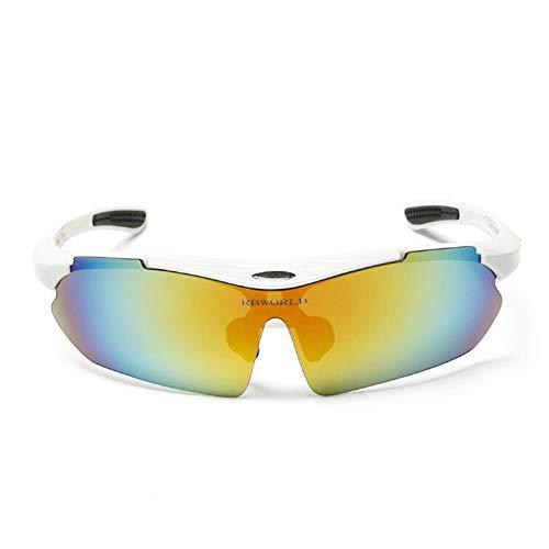 Adisaer Schutzbrille Mit Sehstärke Outdoorbrillen Angeln Windjacke Fahrrad Mountainbike Sonnenbrillen Männer Und Frauen Brille Reiten White Multicolor Damen Herren