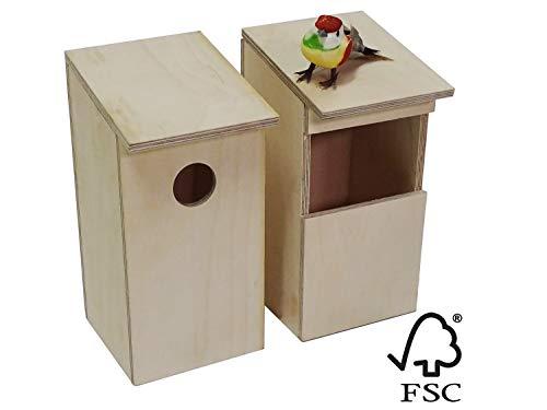 - Handgefertigtes Vogelnest aus Bootsbauspeerholz für Wildvögel. Witterungsbeständig, gebrauchsfertig, für viele Vogelarten geeignet (2er Pack). Direktverkauf Handwerkerbetrieb ()