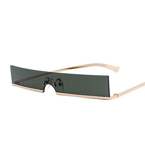 MoHHoM Sonnenbrille,Kleine Gerahmte Spiegel Sonnenbrille Für Frauen Luxusmarken Designer Eyewear Schattierungen Damen Sonnenbrille Uv400 Grün