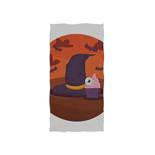 Hexe Hut Design Halloween Soft Spa Strand Badetuch Fingerspitze Handtuch Waschlappen Für Baby Erwachsene Badezimmer Strand Dusche Wrap Hotel Reise Gym Sport 30x15 - Benutzerdefinierte Für Erwachsenen Hexe Kostüm