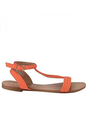 Cendriyon, Sandale Orange CM MODE Chaussures Femme Orange