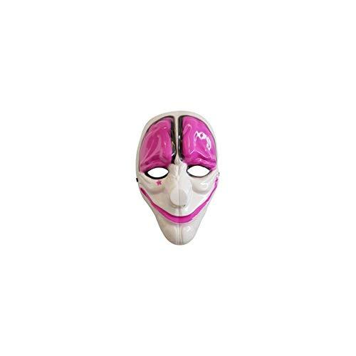 Máscara Payaso Terrorífico Blanco Rosa Payday 2