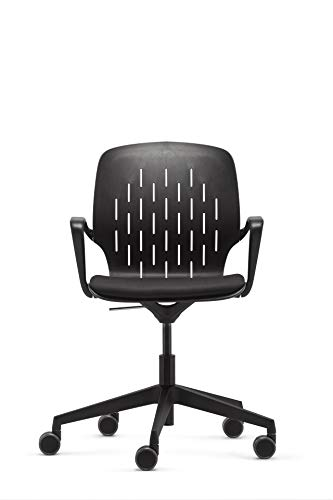 Dauphin Valo Trend Office Sync cowork Schreibtischstuhl Konferenzdrehstuhl, Bürodrehstuhl, Bürostuhl schwarz, flexibel, formschön, Modell