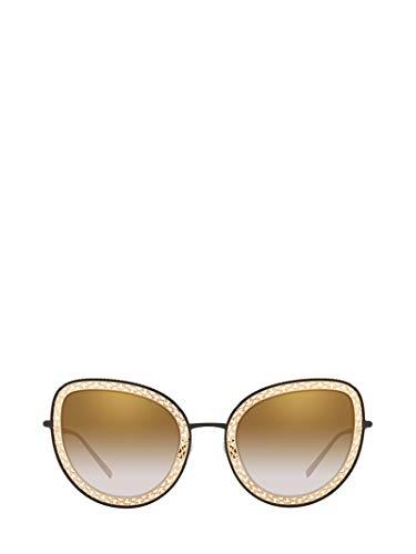 DOLCE E GABBANA Damen Dg222613116e Gold Metall Sonnenbrille