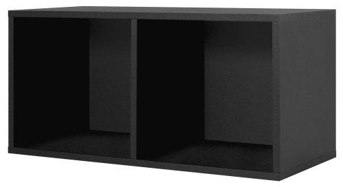 Foremost Linie Modular großen unterteilten Cube Storage System, Holz, Schwarz, Large 30-inch - Modular Cube Storage-system