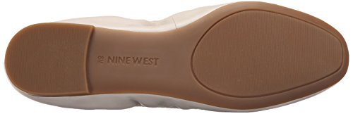 Nine West Girlsnite Leather Ballet Flat Off White