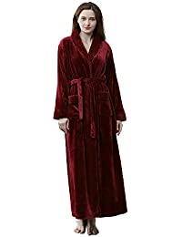 Dressing Gown Women Full Length Robe Plus Size Fleece Winter Warm Bathrobe 224c5acf4