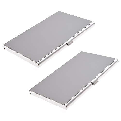 Caracteristicas:  - Portatarjetas de bolsillo de alta calidad en aleación de aluminio.  - Tarjetas múltiples admitidas: se adapta a varios tipos de tarjetas, tarjetas de presentación comerciales, tarjetas de crédito, tarjetas de regalo, tarjetas médi...