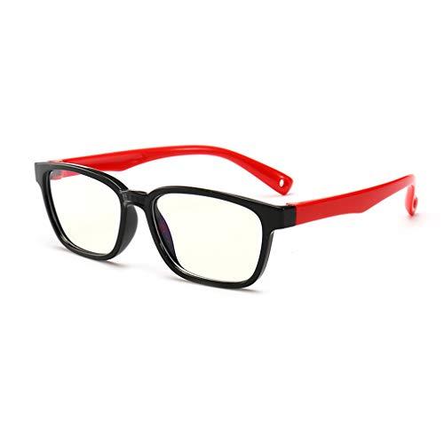 fangcheng Anti Blaulicht Brillengestell | Kinderbrillen + Brillenetui | Transparente Linse, Kinder...