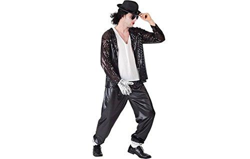 Sängerkostüm Superstar Jackson Sänger 80er Kostüm Herren Gr. L