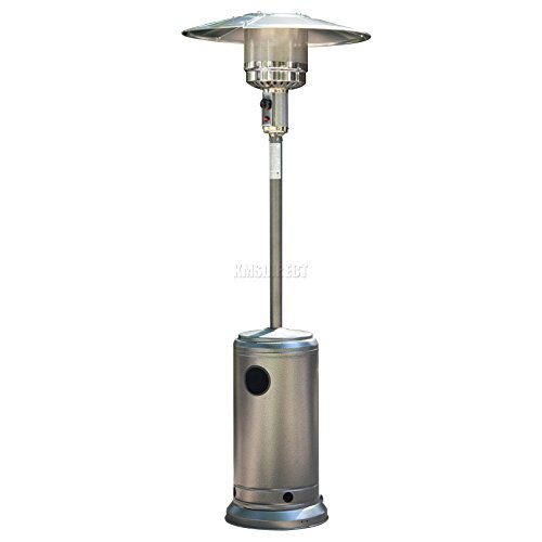 How do you rekindle the love in your family than spending the cold evenings together? Sometimes it gets too cold that you need something to increase the temperature to a moderate level. The FoxHunter Gas Patio Heater will do exactly that with its incredible output of 5,000 W  to 12,000W. Ideally you are able to adjust the heat output depending on how big the area you want to warm is. The heater consumes 450g/h to 870g/h of gas on the lowest and highest setting, respectively making it fairly efficient plus it comes with a cover unlike most other models we have reviewed.