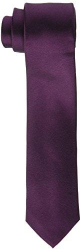 Calvin Klein Herren Krawatte Slim 6.4 cm, Rot (Merlot 502), One Size