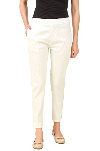 Q-rious Women's Cotton Lycra Trousers/Pants/Chinos  available at amazon for Rs.455