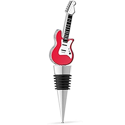 Epic 20-087 Red & White Rock Electric Guitar Metal Enamel Bottle Stopper