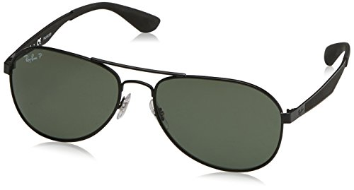 RAYBAN JUNIOR Herren Sonnenbrille RB3549 Matte Black/Polargreen, 58