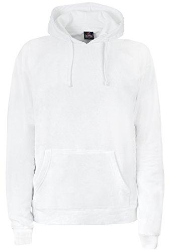 SUMG Kapuzenpullover Hoodie Kapuzen-Sweatshirt 'BASIC Hooded Pullover' (XL, Weiß) (Weißer Pullover)