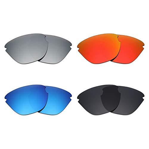 Mryok polarisierte Ersatzgläser für Oakley Frogskins Lite Sonnenbrille - Stealth Black/Fire Red/Ice Blue/Silver Titanium
