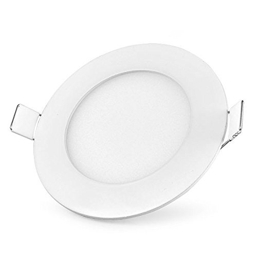 PUFFIN Plastic LED Panel Light - Round(White, 6 Watt, Pack of 2)