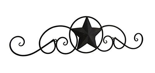 Scrollen Metall Western Star Deko Wand aufhängen (Wand Star Western)