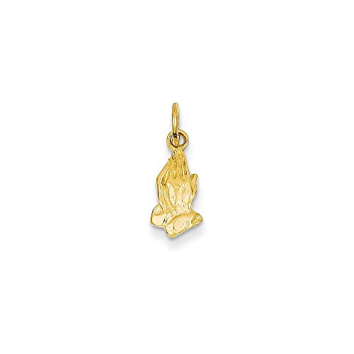 IceCarats Designer Jewellery 14K Praying Hands Charm