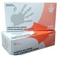 Guantes de latex médicos desechables sin polvo Caja 100 unidades ...
