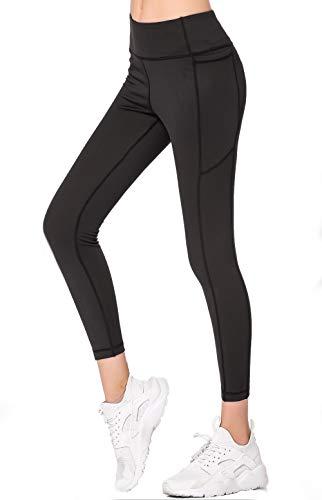 Gmardar Leggings Donna Fitness Leggins Donna a Vita Alta Leggins Sportivi con Tasca Elegante Lunghi Contenitivi Coprenti Leggeri Resistenti Taglie Forti per Yoga Palestra Push Up Crossfit