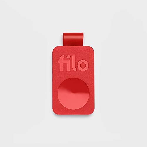 FiloTag Keyfinder 2020 | Localizzatore di Oggetti tramite App. Tracker Bluetooth | Ritrova gli Oggetti che Hai Perso | Colore Rosso. Misure: 25x41x5mm | Pack da 1