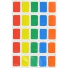 300 Sticky Coloured 12x18mm Oblong Labels Self Adhesive Assorted Colours