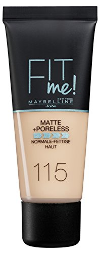 Maybelline Foundation Ivory (Maybelline New York Fit Me Matte & Poreless Ivory 115, 1er Pack (1 x 30 ml))
