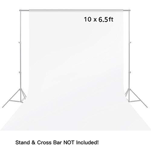 MOUNTDOG Fotografie Hintergrund 10 \'x 6.5\' / 3 Mt x 2 Mt Muslin Backdrop Fotostudio for Stuido Fotohintergrund Hintergrundsystem Fotoshooting Faltbare Baumwolle Premium Qualität - Weiß