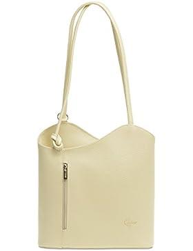 CASPAR TL720 2in1 Rucksack Handtasche Daypack aus echtem Leder