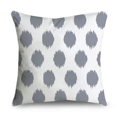 PotteLove Gray Geometric Striped Polyester Square Decorative Throw Pillow Covers Case Cushion Pillowcase for Sofa Bench Bed Home Decor 18x 18 Inch Cotton Striped Sleeper
