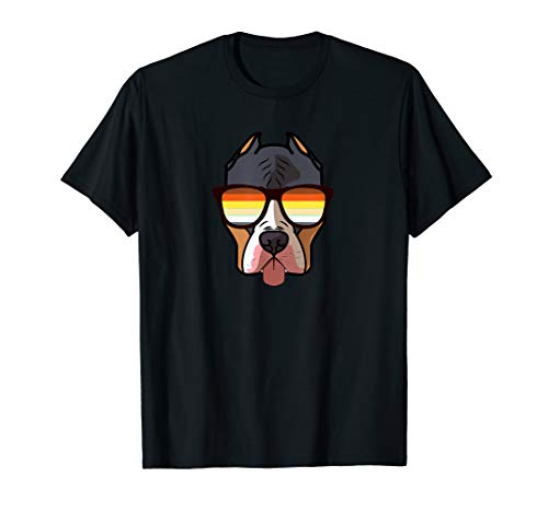 Gay Pitbull mit Sonnenbrille - Cute Gay Pride Pittie Dog T-Shirt