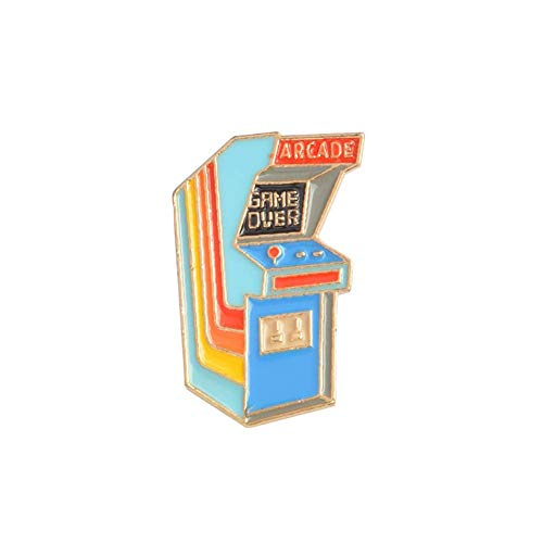 Vektenxi Cartoon Vintage Arcade Brosche Pin Denim Revers Emaille Badge Bag Decor Bunte Langlebig und Nützlich