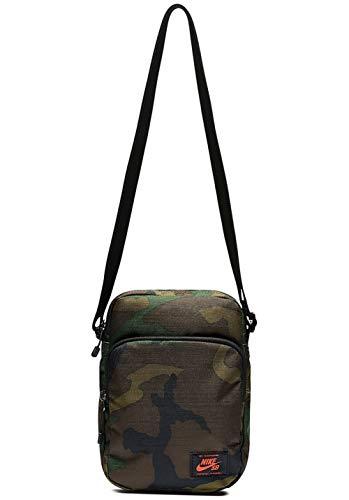 Nike Uni Umhängetasche Heritage, oliv braun schwarz, One size, TAW811000 -