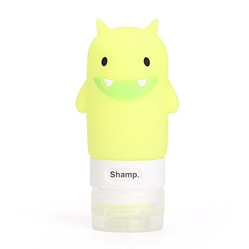 chtdz Tragbare Quetschflasche aus Silikon, Mehrzweck-Cartoon-Flasche, Leere Flasche, ideal für Outdoor-Reisen