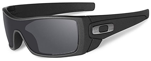 Oakley Men's Batwolf Polarized Iridium Rectangular Sunglasses, Cerakote Cobalt, 0 mm