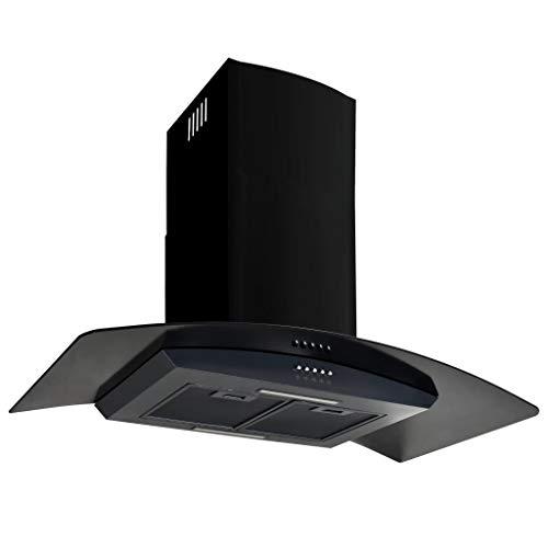 vidaXL Campana Extractora Pared 90cm Negro Electrodoméstico Ventilador Cocina