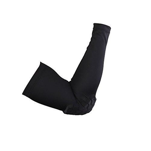 Imported Honeycomb Pad Crashproof Bike Basketball Arm Sleeve Elbow Support Black XL