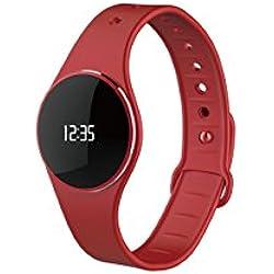 MyKronoz pulsera ZeCircle elástica reloj rojo pantalla táctil Aktivitaetstracker podómetro BT Android iOS WinPhone, Color, KRZECIRCLE-RED