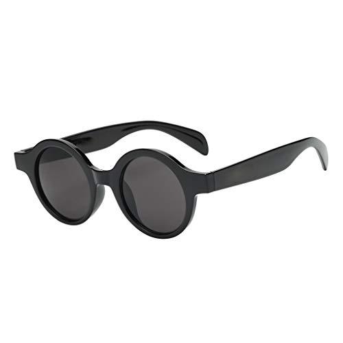 Masterein Frauen-Kreis Runde Kunststoff-Rahmen Sonnenbrillen UV-Schutz Shades Brillen Female Wandern Sonnenbrillen