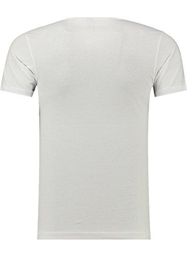 BlackRock Herren T-Shirt Slim-Fit Totenkopf Skull Bones Adler Elasthan 71316 - WHITE