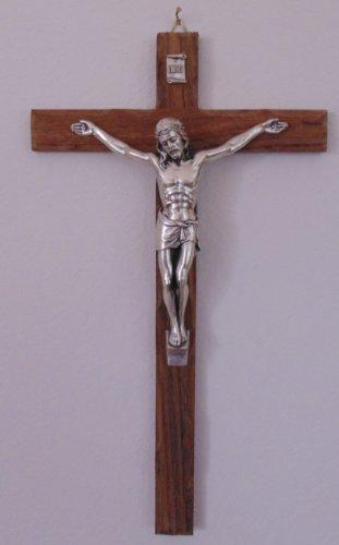 Wandkreuz - Kruzifix Nußbaum 30 cm