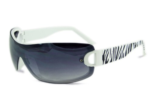 Designer oneshade zèbre noir + verre effet miroir-cE uV400 lunettes de soleil EE1Uv8