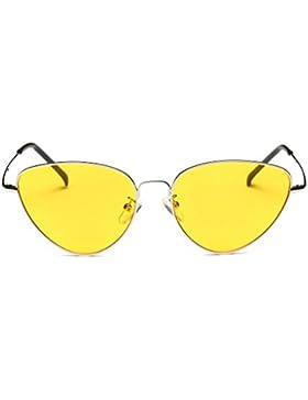 Gafas, Challeng Hombre y mujer de verano retro gafas de gato Moda neutra Plancha de hierro plano Piloto Espejo...