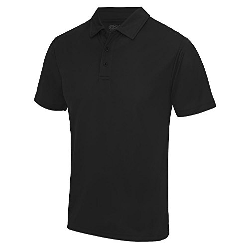 Just Cool - Herren Funktions Poloshirt 'Cool Polo' Jet Black