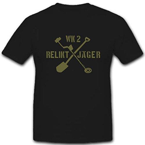 Bodenfund Relikt Jäger WK Metalldetektor Schatzsuche Ausgrabung Geschichte - T Shirt #2840, Farbe:Schwarz, Größe:Herren L