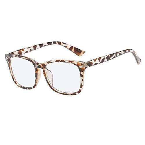 REALIKE Unisex Damen Herren Klassische Quadrat Rahmen Flacher Spiegel Mode Blaues Licht glasses Gemütlich Leicht Tragen Sie beständig Anti Blue Ray Brille Travel Eyewear