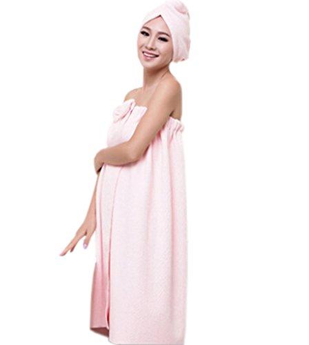 bronze-timeswomens-wearable-super-soft-water-absorbent-microfiber-sweet-bowknot-spa-bath-towel-tube-